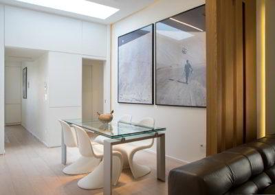 Officine Architetti Napoli_Violetta House_zona pranzo lucernario