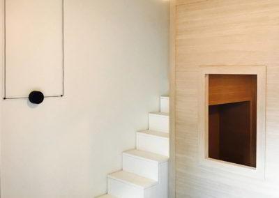 Officine Architetti Napoli_illuminazione e scala per letto soppalco