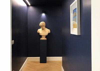 Officine Architetti Napoli_corridoio con opere