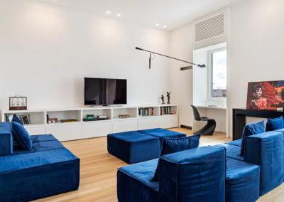 salotto e parete tv