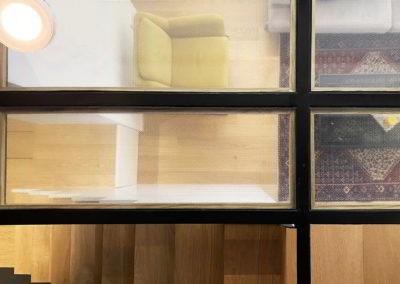 Officine Architetti Napoli_casa Pitloo - pavimento ferro e vetro